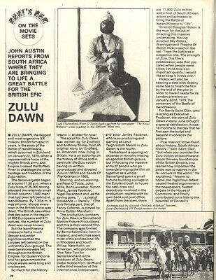 On The Movie Set Of Zulu Dawn (Peter O'toole) Article & Picture(S)