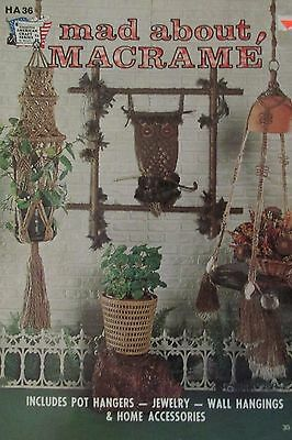 1975, Mad About Macrame, HA 36, Pattern & How To Book