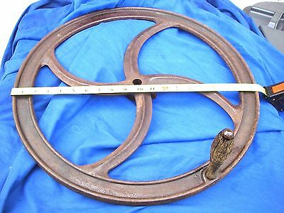 20'' GRAIN MILL WHEEL Primitive Cast Iron gear vintage barn Industrial Punk