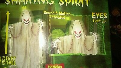 GEMMY SHAKING SPIRT GHOUL. EYES LIGHT UP MOTIONSound ACTIVATED. 4 FT 2008
