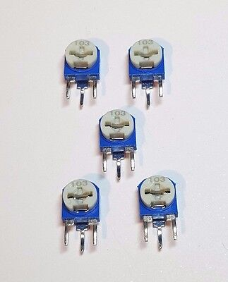 Trimming Potentiometer - Side Adjustable - 5 Pack - Choose from 101 to 504 - UK
