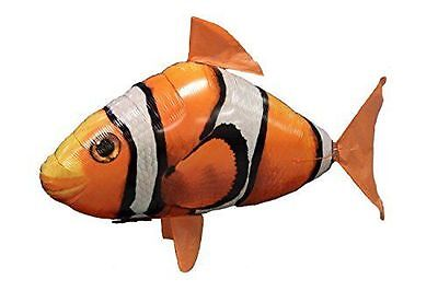 Air Swimmers Remote Control Flying Clownfish Toy Kids Helium Balloon Clown Fish