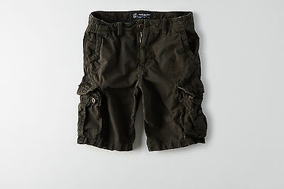 American Eagle Mens Destroyed Cargo Shorts - Black - Sizes 34-48 - NWT