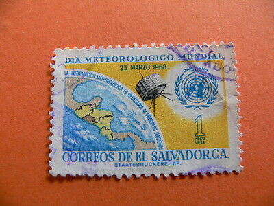 A Stamp From El Salvador. DIA Mundial Meteorological.