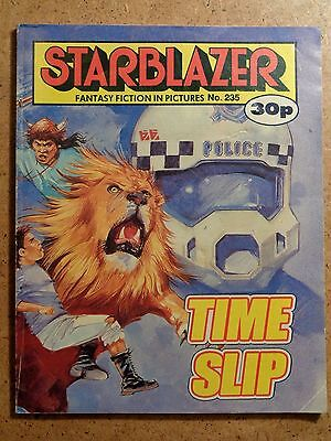 Starblazer Comic No.235 Time Slip 1989 Sci-Fi Fantasy Picture Library