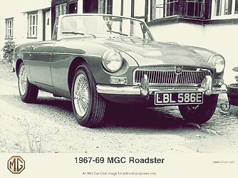 Mg Rover Press Photo Mgc Gt Roadster 1967-1969