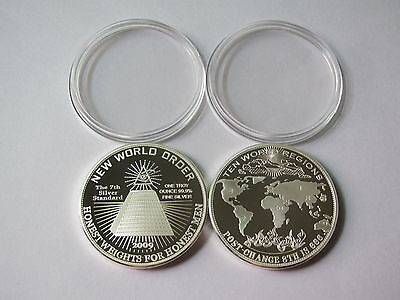 1 oz silver coin - New World Order 2009 - Piece argent 1 once