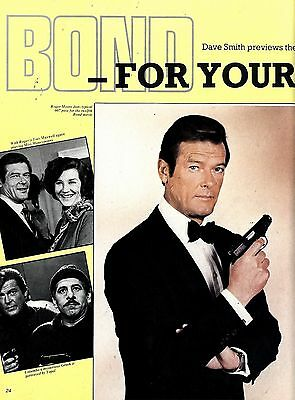 Roger Moore & Carole Bouquet In Four Your Eyes Only Article & Picture(S)