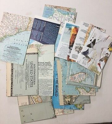 National Geographic Magazine Maps 1940's - 1960's