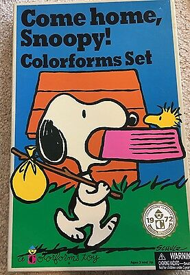 COME HOME SNOOPY Colorforms Toy Play Set 1972 Official Reproduction - incomplete