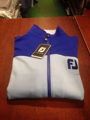 Footjoy Athletic Fit Chill Out Top. XL. Colour Light Blue/ Royal Blue. NEW