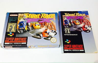 Super Nintendo BOX AND MANUAL ONLY  * STUNT RACE FX * SNES