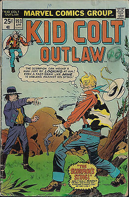 KID COLT OUTLAW #193  Apr 1975  R: KCO #115