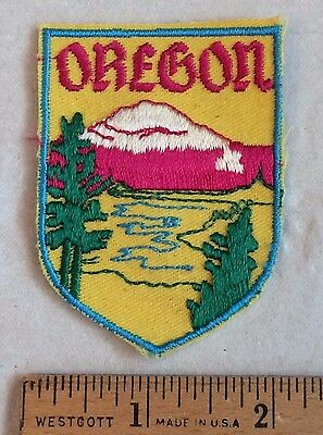 Vintage OREGON Mountain River State Souvenir Patch Badge