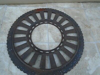 VTG Stovepipe Collar Antique Cast Iron Grate Register Stove Pipe steampunk  #B