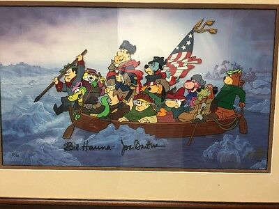 hanna barbera cel Signed Cell Classic Crossing Delaware