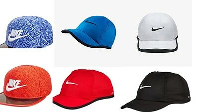 Nike Little Boys Girls Kids Baseball Hats Caps Size 4 / 7  Authentic Black Red