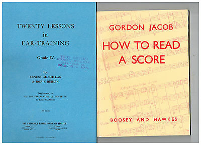 How to Read a Score + Twenty Lessons in Ear Training , 2 Books