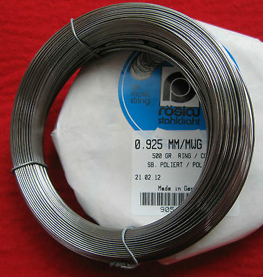 Piano Wire-Full 1/2kg Cóils-Roslau- for Uprights & Grands-Harpsichords-Harps