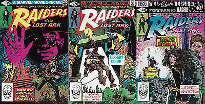 RAIDERS OF THE LOST ARK  1981  All 3 Issue Series  Movie Adaptation