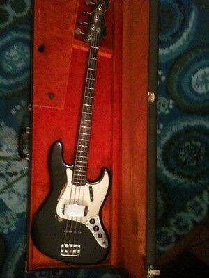 1965 Fender Jazz Bass Black with Matching Headstock