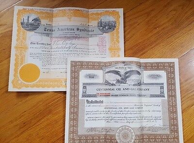 Two old Gas company Stock Certificates