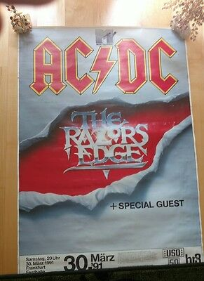 Ac/dc ** Razors Edge Your Poster Frankfurt Original