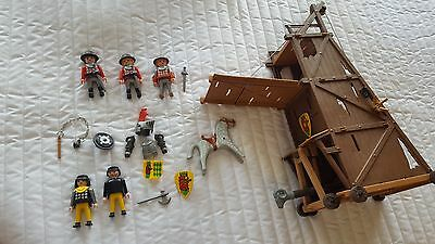 Playmobil Castle Siege Tower Set #3887 with Knight and Accessories Incomplete