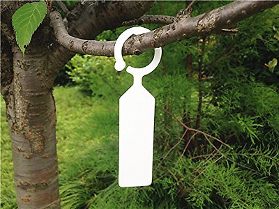 G2PLUS 100 PCS Plant Tree Tags Thick Plastic Markers Nursery Garden Labels for G