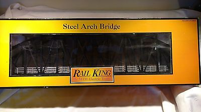 Rail King by MTH Electric Trains Black O Steel Arch Bridge Model 40-1050