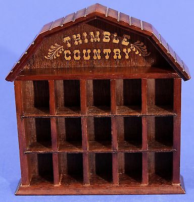 1979 Enesco THIMBLE COUNTRY Wood Display - for 15 Thimbles - Free Shipping!