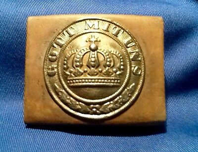 Prussian Enlisted Man's Brass Belt Buckle, Pre-1871 Franco-Prussian War,
