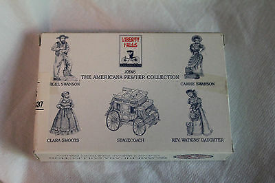 Liberty Falls Hand painted Miniature Accessory Figurines 5pc Set AH48 PEWTER NEW