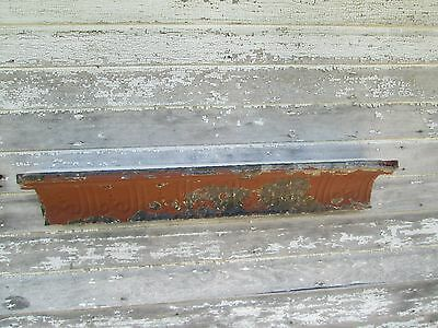 "Antique  Reclaimed Repurposd Tin Ceiling Wall Shelf Ornate  42"" Shabby"