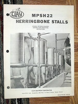 CLAY MPSH22 Herringbone Stalls Assembly Operating Instructions Cow Farming RARE