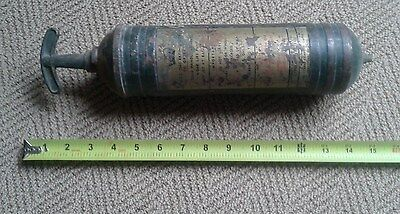 VINTAGE PYRENE BRASS FIRE EXTINGUISHER --  Could use a good cleaning