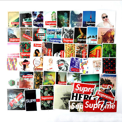 Hot 60pcs/pack Supreme Stickers Vinyl Decal PVC Laptop Skateboard Luggage New