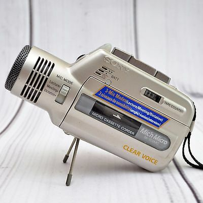 Sony Mic'n Micro M-100MC Clear Voice Micro Cassette Recorder Dictation Lecture