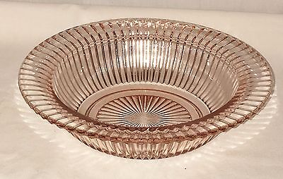 "Anchor Hocking QUEEN MARY PINK *7 1/2"" SALAD BOWL/ BUTTER BOTTOM*"