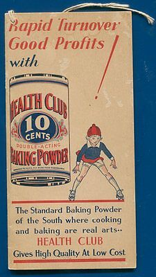 Health Club Baking Powder Grocers Want book Layton Pure Food East Providence RI