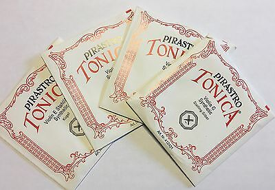 Pirastro Tonica Violin Strings Full Set 4/4 Ball Ends - Free shipping within USA
