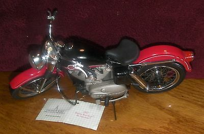 Franklin Mint Diecast Harley Davidson 1957 XL Sportster Motorcycle 1:10 scale