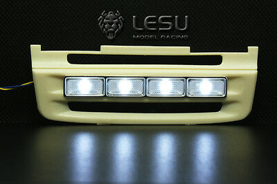 1/14 Tamiya Scania Front Bottom LED Bumper Grill RC Car Truck Tractor Parts