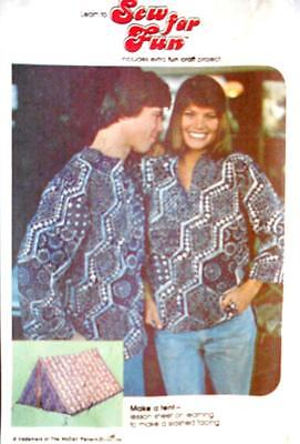 Vintage McCall's CAREFREE Pattern 4428  MISSES' SHIRT sz 8 + Make a Tent!!!