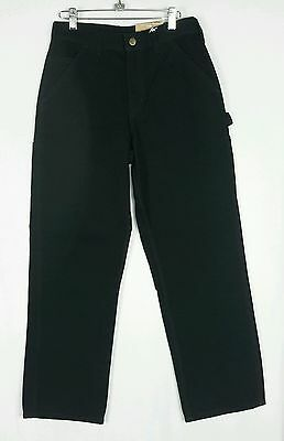 Carhartt Mens Washed Duck Work Dungaree Pants Black Sz 29 X 30 - Nwt B11 Blk