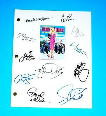 Legally Blonde Script Signed Rpt Reese Witherspoon  Luke Wilson  Selma Blair