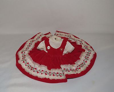 """Vogue Red Velvet Dress Tagged Fits 12"""" Baby Doll"""