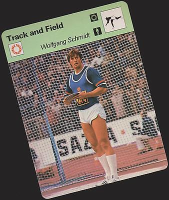 1979 Wolfgang Schmidt Sportscaster Card #103-14 A Printing Nrmt-Mt From Cello