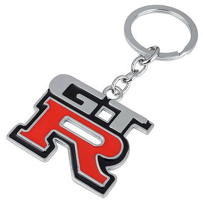1pc Car Metal Red GTR Logo Key Chain Key Ring Keyfob Auto Accessories For Nissan