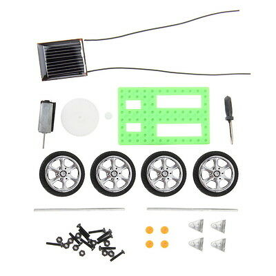 Mini Solar Powered Toy DIY Car Kit Children Educational Gadget Hobby New